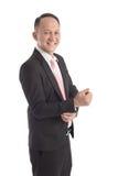 Portrait of Asian business man Stock Photos
