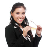 Portrait of Asian business woman with glasses Stock Photo