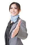 Portrait of asian business woman handshaking Royalty Free Stock Image