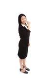 Portrait of a asian business woman  make a fist Stock Photos
