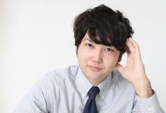 Smiling Asian businessman. Portrait of an Asian businessman stock images