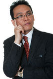 Portrait Asian businessman thinking Stock Photos
