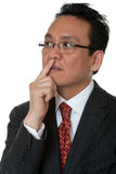 Portrait Asian businessman thinking Royalty Free Stock Image