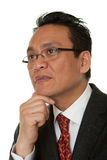 Portrait Asian businessman thinking Royalty Free Stock Photos