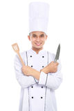 Portrait of asian chef smiling Stock Photos