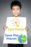 Portrait of Asian child with Eco concept Stock Images