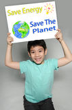 Portrait of Asian child with Eco concept Stock Photography