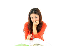 A portrait of an Asian college student Stock Images