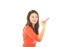 A portrait of an Asian college student Royalty Free Stock Photos