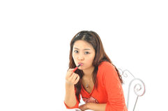A portrait of an Asian college student Royalty Free Stock Images
