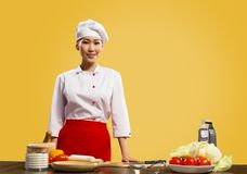 Portrait of asian cook Royalty Free Stock Image