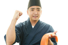 Portrait of an Asian cook Royalty Free Stock Images