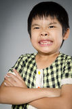 Portrait Of asian cute boy Royalty Free Stock Photo