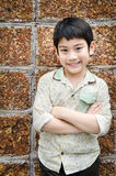 Portrait Of asian cute boy Stock Images