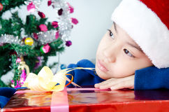 Portrait of Asian cute boy Royalty Free Stock Photography