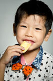 Portrait Of asian cute boy Stock Photos