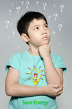 Portrait Of asian cute boy Stock Photo