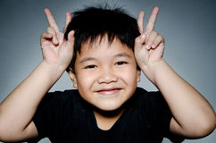 Portrait Of asian cute boy Stock Photography