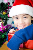 Portrait of Asian cute boy Stock Photography