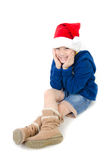 Portrait of Asian cute boy represents Christmas theme Stock Photography