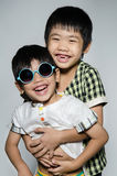 Portrait Of asian cute boys Royalty Free Stock Photography