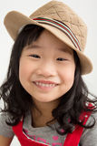 Portrait of asian cute girl with cotton hat, Stock Photo