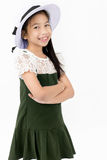 Portrait of asian cute girl with cotton hat, Royalty Free Stock Image