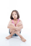 Portrait of Asian cute girl sitting stock photos