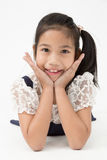 Portrait of asian cute girl with smile face Royalty Free Stock Photos