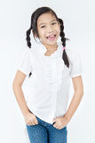 Portrait of asian cute girl with smile face Royalty Free Stock Image