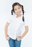 Portrait of asian cute girl with smile face Stock Images