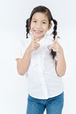 Portrait of asian cute girl with smile face Royalty Free Stock Images