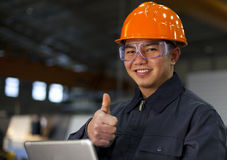 Portrait asian engineer Royalty Free Stock Photos