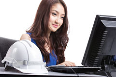 Portrait Asian Engineer with work concept Royalty Free Stock Photography