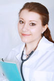 Portrait of an asian female medical doctor Stock Images
