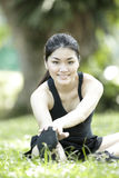 Portrait of a Asian female runner. Stock Images
