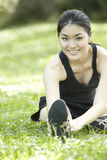 Portrait of a Asian female runner. Royalty Free Stock Photos