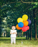 Portrait of asian girl with balloons Stock Photos