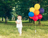 Portrait of asian girl with balloons Stock Photo