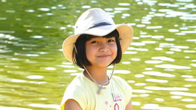 Portrait of Asian girl. stock footage