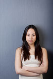 Portrait of asian girl with folded arms Royalty Free Stock Photography