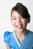Portrait of Asian Girl Laughing Royalty Free Stock Photos