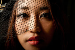 Portrait Of Asian Girl In Low Key Stock Photography