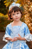 Portrait of the asian girl in princess costume Royalty Free Stock Images
