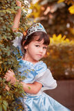 Portrait of the asian girl in princess costume Royalty Free Stock Image