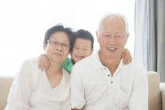 Asian grandparents and grandchild Royalty Free Stock Photo