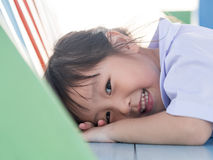 Portrait of Asian happy little girl Stock Image