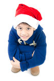 Portrait of Asian happy smile boy represents Christmas theme on Stock Image
