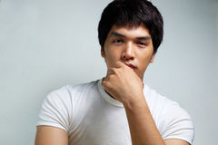 Portrait of Asian Male Model Royalty Free Stock Photography