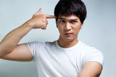 Portrait of Asian Male Model Royalty Free Stock Photos